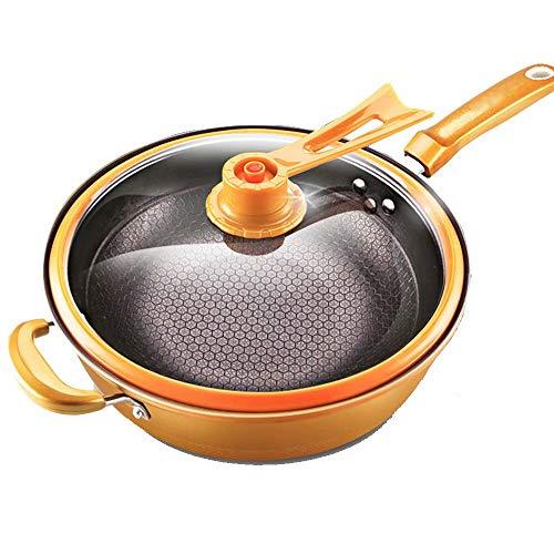 WY- Pot Eisenpfanne Vakuum Wok Antihaft-Pfanne Haushalt Pfanne Induktionsherd Universal 32cm