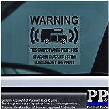 6x Camper Van Dummy/Fake GPS–black-tracking System Gerät Unit–Campervan Security Alarm Warnung Fenster Aufkleber–Police überwacht Vinyl Schild