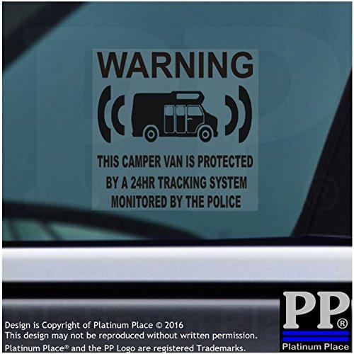 Dummies Gps (6x Camper Van Dummy/Fake GPS–black-tracking System Gerät Unit–Campervan Security Alarm Warnung Fenster Aufkleber–Police überwacht Vinyl Schild)