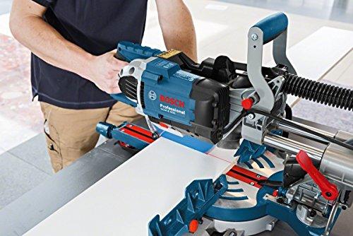 Bosch Professional Paneelsäge GCM 8 SDE (Kreissägeblatt, Klemme, Karton, Schnittkapazität 0°: 70 x 312 mm, Sägeblattdurchmesser: 216 mm, 1600 Watt) - 3