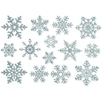 Articlings  42 Glitter Snowflake Window Clings