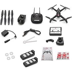 StageOnline Mini Drone, giróscopo 2.4GHZ 6 Axis MJX Bugs 5W B5W RC Quadcopter Drone GPS con cámara 1080P 5G WiFi FPV para niños y Principiantes