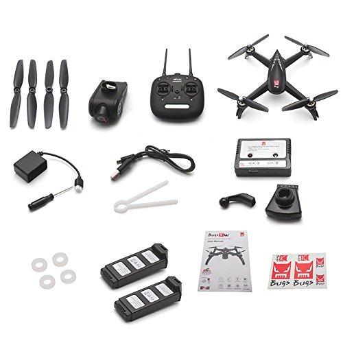gaeruite MJX Bugs 5W Drohne mit 1080P 5G WiFi FPV HD Kamera - Folgen Sie Mir, MT1806 1500KV BRUSHLESS Motor, GPS Heimkehr,live ubertragung, RC Quadcopter Drone