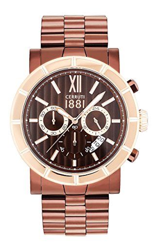 CERRUTI Reloj Cronógrafo para Hombre de Cuarzo con Correa en Acero Inoxidable CRA142SBZR12MBZ
