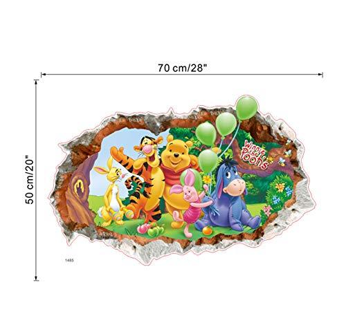Tiere Zoo Cartoon Winnie Pooh HOME Schlafzimmer Aufkleber Wandaufkleber für Kinderzimmer Wandtattoos Kindergarten Party Supply Geschenke Poster