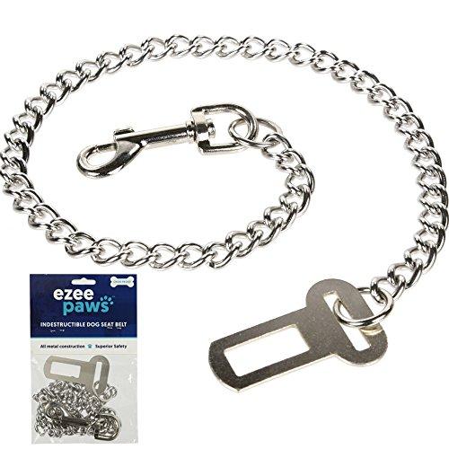 eZee Pfoten Metall Kette Hund Sicherheitsgurt kaufest stark Sicherheit Zurückhaltung (65cm)