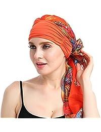 da1688865ee Dinglong Grosses Soldes Caps Femme 2018 Femmes Musulman Stretch Turban  Chemo Chapeau Multicolore Imprimer Longue Queue