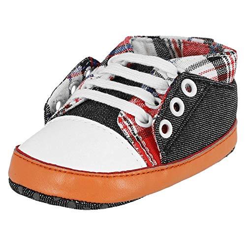 KREXUS Lauflernschuhee Happy Sneaker Schwarz Kariert Gr. 12-18 Monate XB01702_12 (Sneakers Karierte)