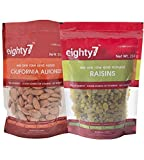 #10: Eighty7 California Almonds and Raisins Combo, 500g