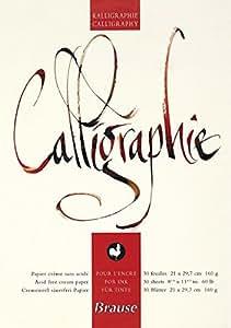 Brause - 96437B - Bloc-Notes de Calligraphie - A4 -30 Pages Crème