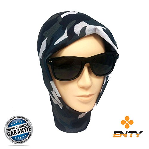 Enty Face-Shield | Premium - Face-Mask von Enty | Bandana Multifunktionstuch Schlauchtuch Halstuch Multischal Maske (Blue Woodland)