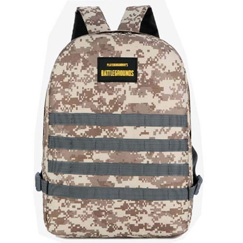 Shoulder Bag Male Jedi Survival Backpack Chicken Three-Level Package Canvas Leisure Travel Camouflage Computer Bag Students Bag Desert Camouflage   15cm x 10cm x 5cm