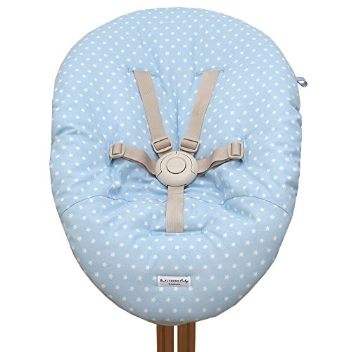 Blausberg Baby - Bezug für Babywippe Nomi Hochstuhl von Evomove - Hellblau Stern