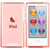 moodie Coque iPod Nano 7 Case Cover TPU Coque Silicone Protection Apple iPod Nano 7G - Version 2015 - Rouge