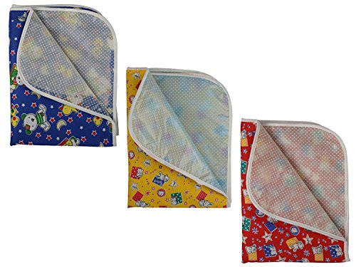 Baby Fly Baby Nappy Changing Mat/Sheet Pack of 3 Pcs (Multi Colour)(0-12 Months)