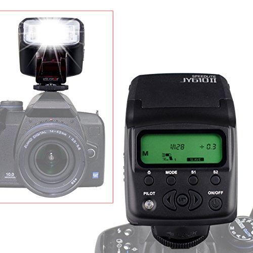TARION® Viltrox JY-610 II Blitzgerät mit LCD-Display für alle Kameras mit Standard-Blitzschuh wie Canon 600D 650D 700D, Nikon D3100 D3200 D5100 D5200, Pentax K3 K5 K5II, Sony A6000 etc.