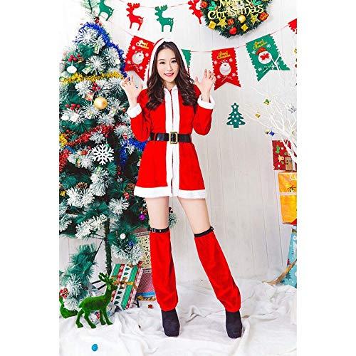 SPFAZJ Santa Anzug Kostüm Hot Weihnachten Kleidung Split weiblichen Weihnachtsmann Rollenspiel Kostüm