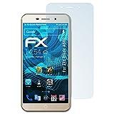 atFolix Displayschutzfolie für ZTE Blade A602 Schutzfolie - 3 x FX-Clear kristallklare Folie