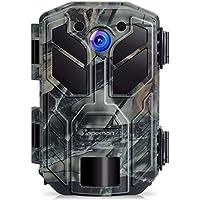 apeman Caméra de Chasse 20MP 1080P Caméra Animaux de Surveillance avec Infrarouge Vision Nocturne Jusqu'à 65ft/20m IP66 Pulvérisation Étanche