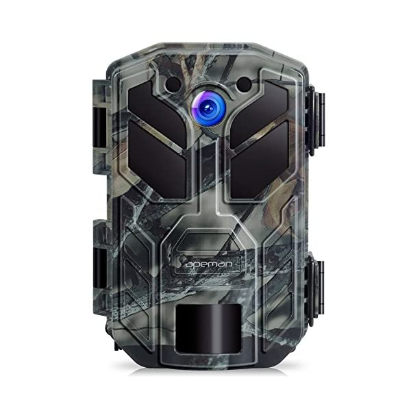 apeman Wildlife Trail Camera Trap 20MP 1080P with Infrared Night Vision up to 65ft/20m IP66 Spray Waterproof for Outdoor Nature, Garden, Home Security Surveillance