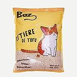 BOZ Litière au Tofu, Litière Agglomérante pour Chat, Litière Organique Bio, sans Odeur, sans Poussière, sans Ingrédient Chimique et Toxique, Anti-Microorganisme, Easy-Clean, 7L, 3,8kg