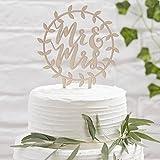 Ginger Ray Hochzeit Tortenaufsatz Torte Kuchen Party Deko Holz Mr & Mrs