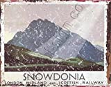 8x10 LMS RAILWAY SIGN SNOWDONIA METAL SIGN RETRO VINTAGE STYLE 8x10in 20x25cm RAILWAY train trains