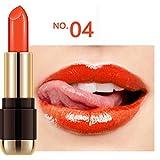 Malloom® Imperméable Longue durée Rouge à lèvres velouté Brillant Crayon Outil de beauté (#04)