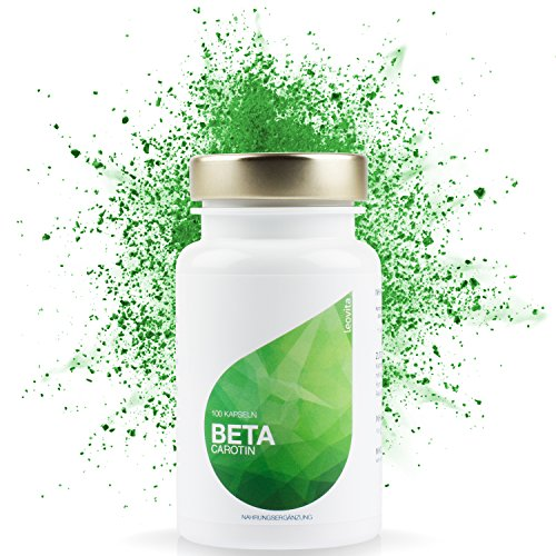 LEOVita Beta Carotin • Bräunungskapseln • für einen gesunden Teint • Carotin Kapseln hochdosiert • 100 Kapseln • 100% Vegan • hergestellt in Deutschland • 100% Zufriedenheitsgarantie