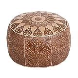 Casa Moro Orientalische Leder Sitzkissen Polsterhocker Fußhocker Hocker Tamir aus Marokko