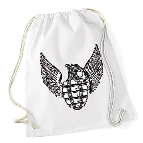 Wings Of Grenade Sac De Gym Blanc Certified Freak