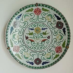 Grand plat ancien époque Kangxi (1662-1722), Chine famille verte – porcelaine émaillée