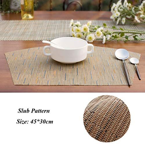 NIKIMI Fan Shaped Sector Esstisch MatNon-Slip Insulation Tischsets PVC Disc Pads Schüssel Untersetzer Platte Bar Küche Kaffee Pad -