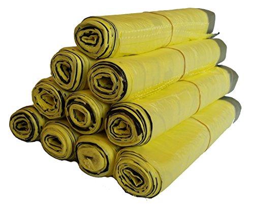 Rouleaux de sacs jaunes (5 à 100 rouleaux), 5 Rollen