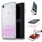 Urcover Coquille Tactile 360 degrés | Samsung Galaxy A7 | Dream Catcher Mandala in Fuchsia | Silicone Transparent Doux Protection Écran 3D Étui Housse Mince Tribal