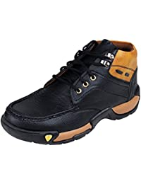 945719bdda91ff YPS Black Men Shoes Synthetic Leather Dress Boots for Men Stylish Sturdy  Shoes for Men –