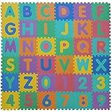 VeloVendo® - Tappeto Puzzle Lettere & Numeri in soffice Schiuma EVA | Tappeto da Gioco per Bambini | Tappetino Puzzle