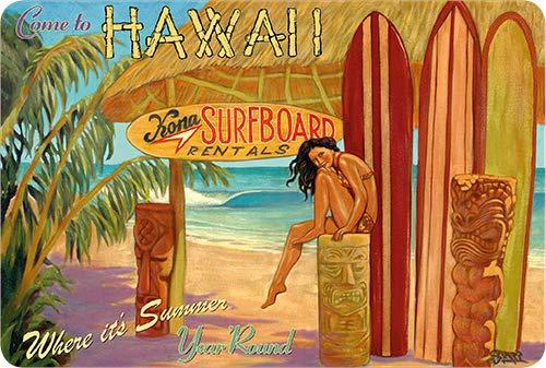 Pacifica Island Art Vintage Postkarten-Set (30) - Kona Surfboards von Rick Sharp