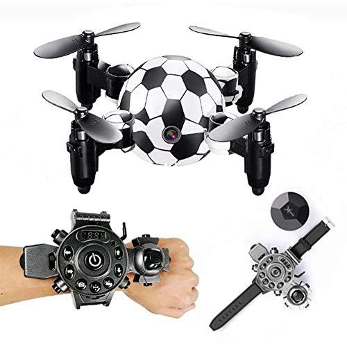 RXRENXIA Fernsteuerungs-Drohne, tragbarer Mini-Hubschrauber, RC-Drohne Mini-Faltmodus Quadcopter, 4-Achsen-FPV-Kamera 0.3MP Luftbildfotografie/Höhenstand/Echtzeitübertragung (Drohne Hubschrauber Für Go Pro)
