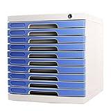 Met Love Gabinete de Archivo con Lock Desktop 10 Capas Gabinete de Almacenamiento de plástico Gabinetes de Archivo