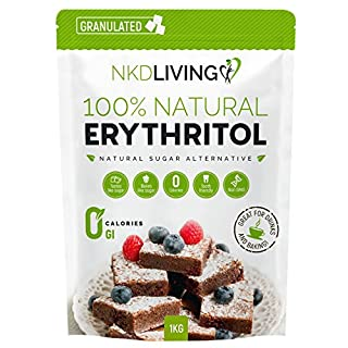 100% Natural Erythritol 1 Kg | Granulated ZERO Calorie Sugar Replacement