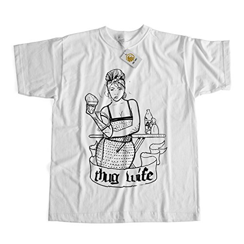 Thug Wife T-shirt Bridal Gift Shirt Wedding Gift Gift For Wife Tee Tops Weiß