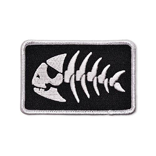 FSM Jolly Piraten Fisch bestickt Patch-8,9cm breit