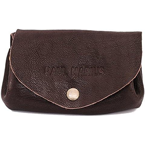 LE GUSTAVE INDUS cartera de cuero, monedero estilo vintage marrón oscuro PAUL MARIUS Vintage &