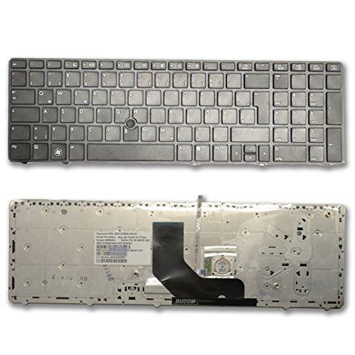DE Tastatur für HP EliteBook 8560P 8570P ProBook 6560 6560P Keyboard Schwarz