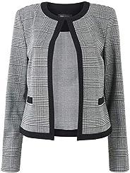 Marks & Spencer Women's Jersey Checked Edge To Edge Short Blazer, B