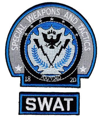 Batman Begins The Dark Knight SWAT Embroidered Badge Patch Iron or Sew on 7.5cm