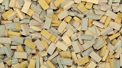 500 pcs Miniature Mixed Beige Bricks by Juweela1:32 Scale/1:35 Scale 23053 by Juweela (Brick Pc)