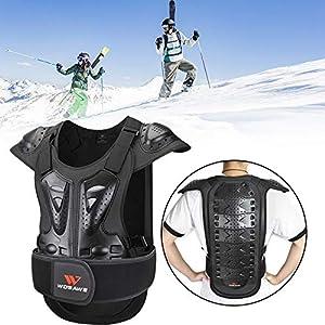 bulrusely Adult Protective Abnehmbare Weste, Brustwirbelsäulenschutz Rüstung Weste mit Verstellbarer Schnalle, Motorrad…