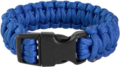 normani 1-2 oder 3 Professionelles Survival Armband aus geflochtener Paracord mit Clipverschluss 17mm Farbe Blau Größe S
